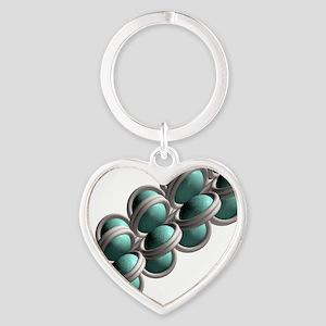 Chromatin fibre, artwork Heart Keychain