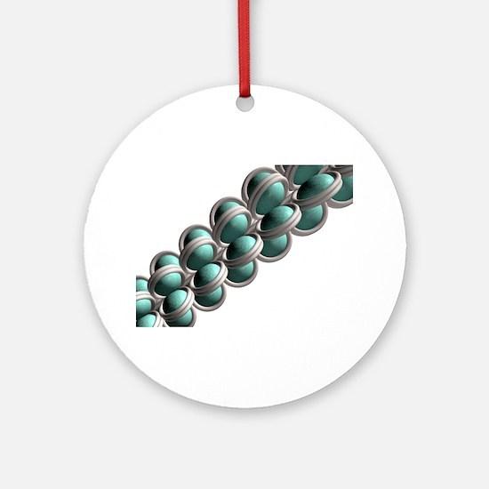 Chromatin fibre, artwork Round Ornament