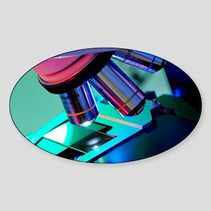 Light microscope Sticker (Oval)