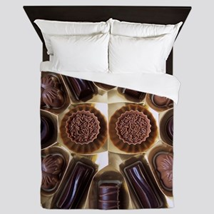 Assorted chocolates Queen Duvet