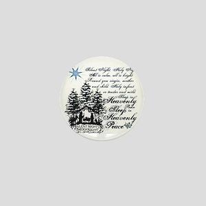 Silent Night Mini Button