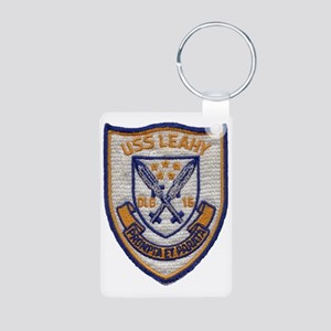uss leahy dlg patch transp Aluminum Photo Keychain