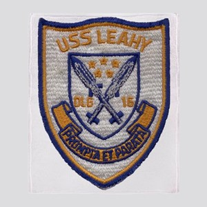 uss leahy dlg patch transparent Throw Blanket