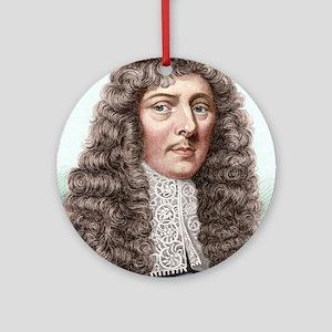 John Aubrey, English archaeologist Round Ornament