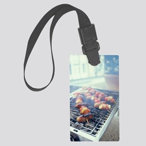 Barbecuing meat Large Luggage Tag