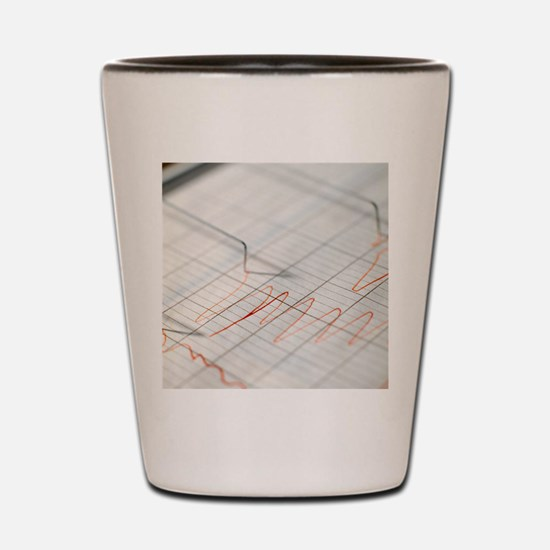 Lie detector traces Shot Glass