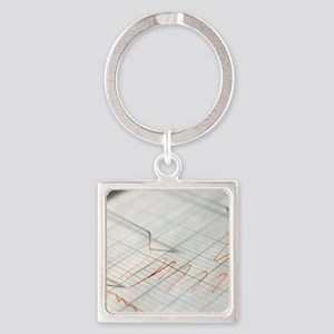 Lie detector traces Square Keychain