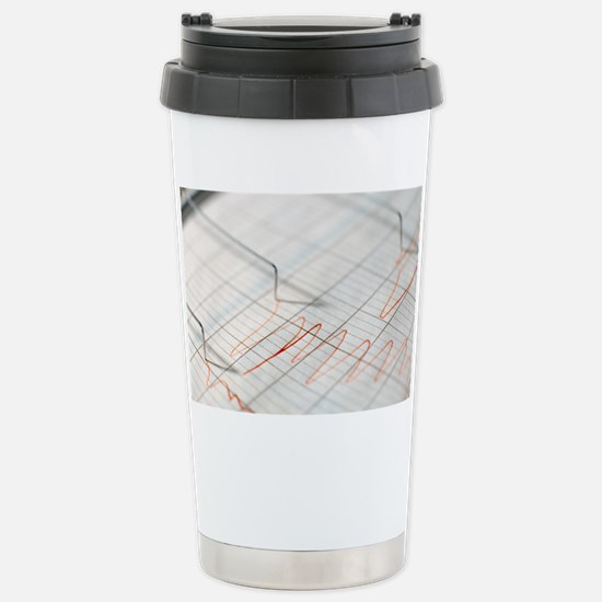 Lie detector traces Stainless Steel Travel Mug