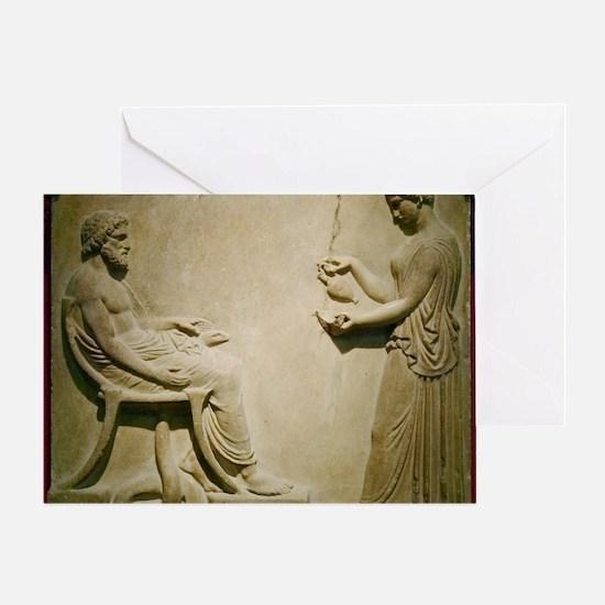 Aesculapius, Roman god Greeting Card