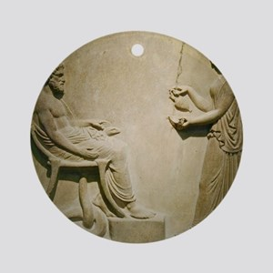 Aesculapius, Roman god Round Ornament