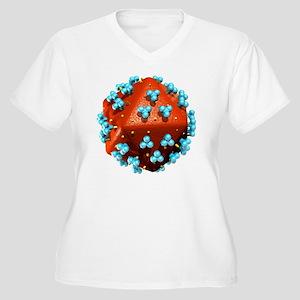 AIDS virus capsid Women's Plus Size V-Neck T-Shirt