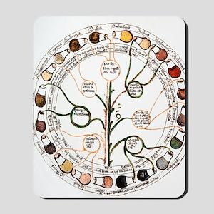 Medieval urine wheel Mousepad