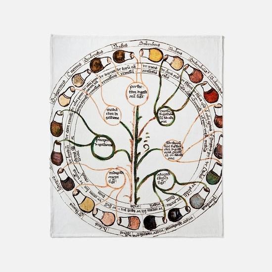 Medieval urine wheel Throw Blanket