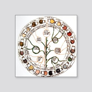 "Medieval urine wheel Square Sticker 3"" x 3"""