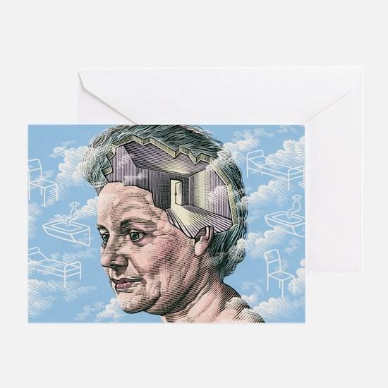 Alzheimer's disease Greeting Card