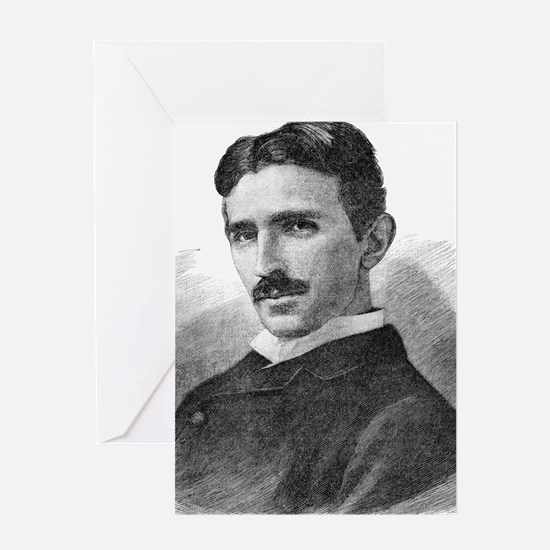 Nikola Tesla, Serb-US physicist Greeting Card