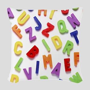 Alphabet Woven Throw Pillow