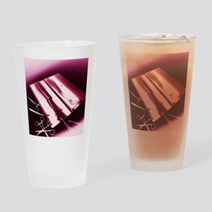 Leg fracture, X-ray Drinking Glass