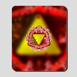 AIDS virus particle, computer artwork Mousepad