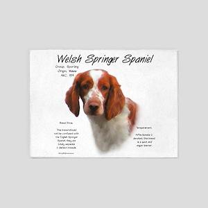 Welsh Springer Spaniel 5'x7'Area Rug