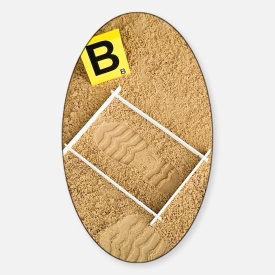 Shoe print evidence Sticker (Oval)