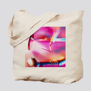 View of assorted dental equipment Tote Bag