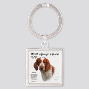 Welsh Springer Spaniel Square Keychain
