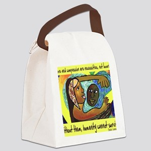 Love and Compassion Canvas Lunch Bag