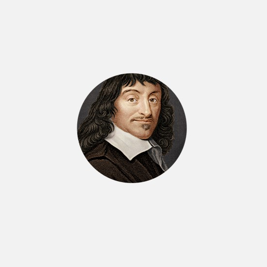 Rene Descartes, French mathematician Mini Button