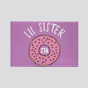 Zeta Tau Alpha Lil Sister Donut Rectangle Magnet