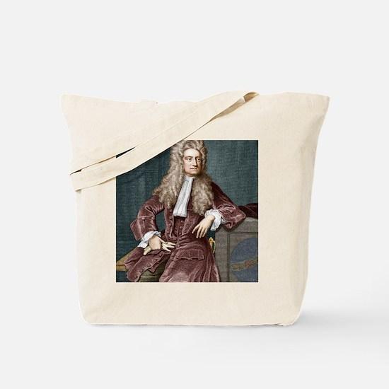 Sir Isaac Newton, British physicist Tote Bag