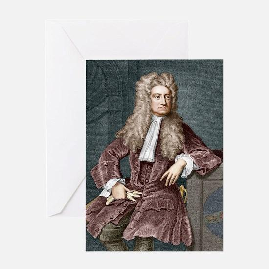 Sir Isaac Newton, British physicist Greeting Card