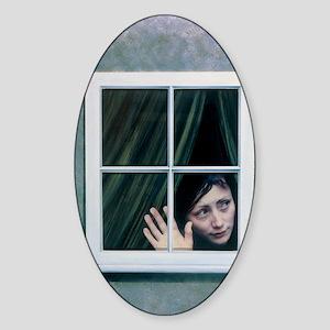 Artist's depiction of an agoraphobi Sticker (Oval)