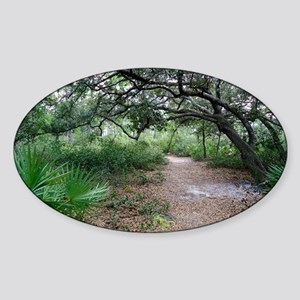 Econ River Wilderness Hiking Trail Sticker (Oval)