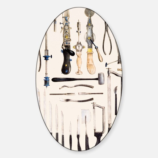 Surgical instruments for use on bon Sticker (Oval)