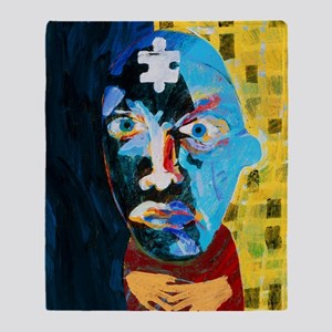 Abstract artwork of man depicting me Throw Blanket