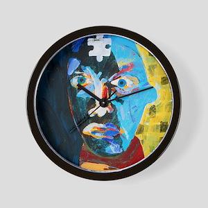 Abstract artwork of man depicting menta Wall Clock