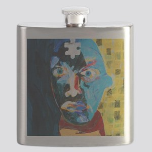 Abstract artwork of man depicting mental ill Flask