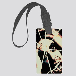 Abstract image of man with shatt Large Luggage Tag