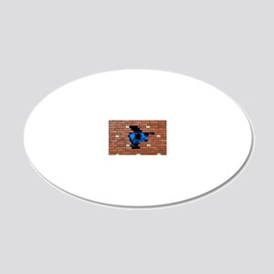 Abstract of eye looking thro 20x12 Oval Wall Decal