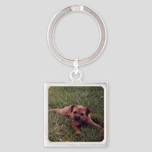 BT puppy Square Keychain