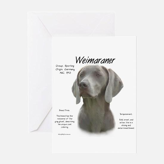Weimaraner Greeting Card
