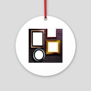 Alzheimer's disease, conceptual ima Round Ornament