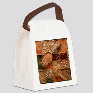 Store of various grains and pulse Canvas Lunch Bag