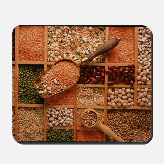 Store of various grains and pulses Mousepad
