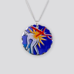 Abstract artwork depicting l Necklace Circle Charm