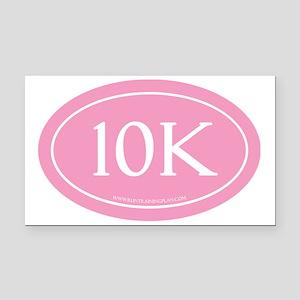 10K Run Achievement Rectangle Car Magnet