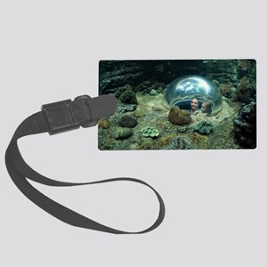 Aquarium Large Luggage Tag