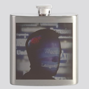 Aphasia artwork Flask