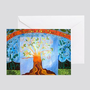we are all Stewards of our planet Ea Greeting Card